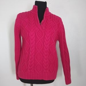 Leo & Nicole half zip sweater